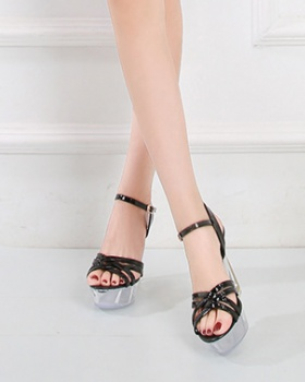 Nightclub shoes crystal high-heeled shoes for women