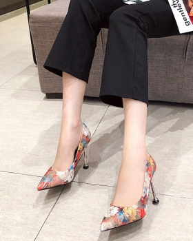 Nightclub slim shoes colors fashion high-heeled shoes