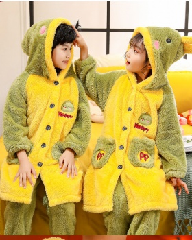 Autumn and winter thick pajamas homewear nightgown