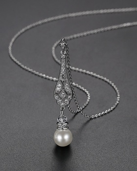 Gift simple pendant pearl fashion necklace for women