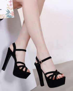 European style platform hollow sandals for women
