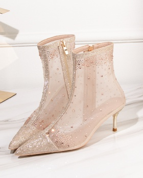 Sexy fashion boots rhinestone pointed women's boots for women