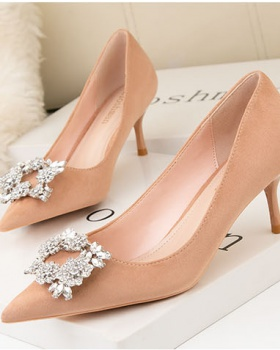 High-heeled profession fine-root banquet shoes for women