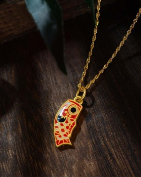 Pendant lucky cat gold necklace