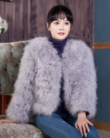 Autumn and winter fur coat long sleeve coat for women