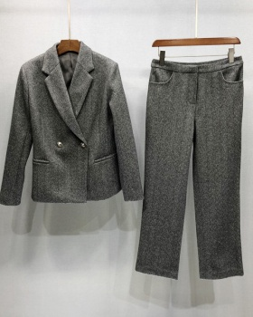 Autumn and winter business suit commuting long pants 2pcs set