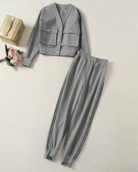 Fat sweatpants European style pants a set for women