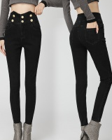 High waist fashion pencil pants shaping jeans for women