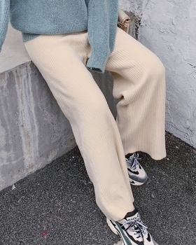 Autumn and winter pants wide leg pants for women