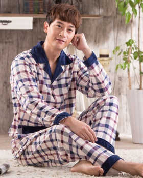 Homewear cardigan middle-aged pajamas a set for men