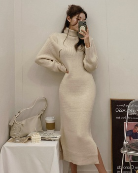 Winter Korean style sweater thermal strapless dress for women