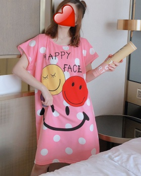 Short sleeve cartoon conjoined enlarge night dress