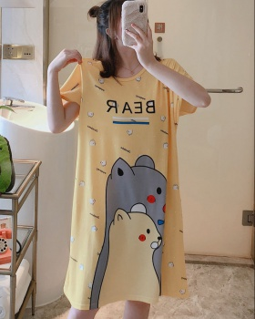 Enlarge conjoined cartoon summer loose night dress