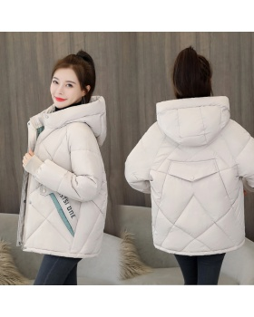Thick short coat loose winter cotton coat for women
