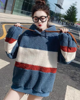 Korean style thick hoodie autumn and winter hooded coat