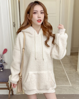 Loose hooded hoodie autumn and winter tops for women