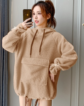Korean style coat autumn and winter hoodie for women