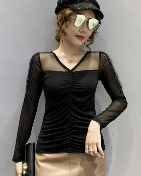 Slim spring T-shirt European style sexy tops for women