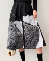 Winter large yard spring and autumn loose skirt