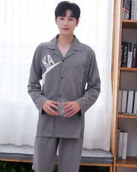 Knitted autumn long pants loose cardigan a set for men