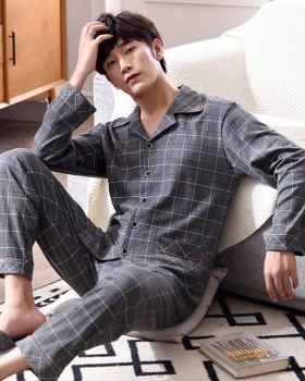 Knitted pajamas homewear cardigan a set for men