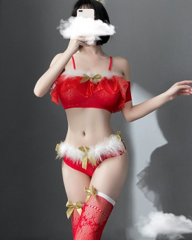 Conjoined Sexy underwear christmas skirt a set