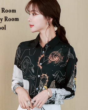 Mixed colors autumn tops floral Western style shirt