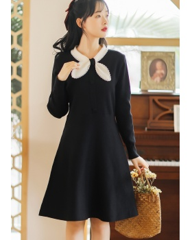 Autumn and winter maiden knitted tender dress