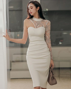 Korean style light sexy party ladies annual meeting dress