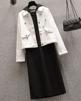 Fat sister skirt autumn and winter coat a set for women