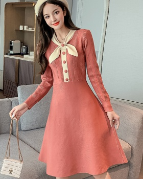 Autumn and winter bottoming long dress slim dress