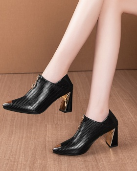 Korean style thick high-heeled shoes autumn shoes for women