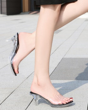 Fashion and elegant high-heeled slippers