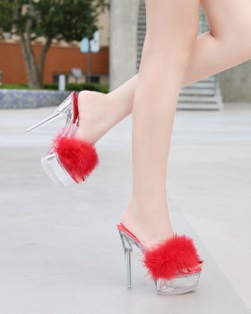 Banquet crystal sexy wedding shoes high-heeled elmo sandals
