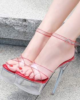 Thick crust high-heeled shoes fine-root platform