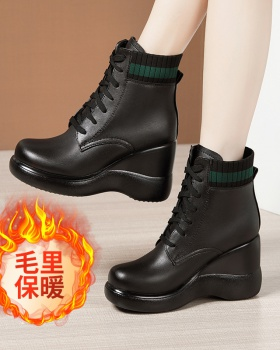 Round boots slipsole martin boots for women