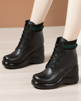 Round fashion martin boots antiskid boots for women