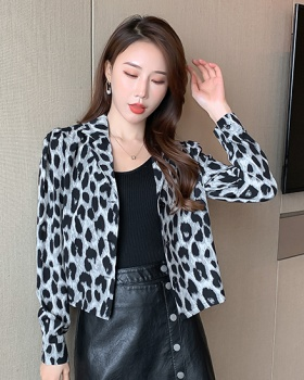 Fashion fat business suit retro loose tops for women