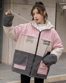 Korean style thick bread clothing couples winter cotton coat