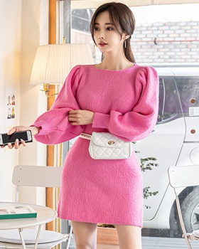 Winter Casual sweater knitted high elastic dress