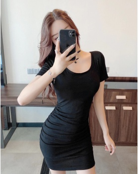 Package hip sexy dress large collar clavicle for women