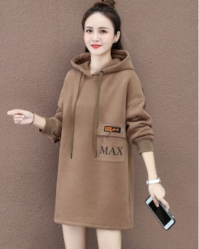 Autumn and winter loose hoodie Korean style coat for women