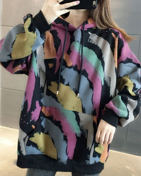 Autumn all-match coat loose hoodie for women