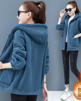 Autumn and winter hoodie cardigan for women
