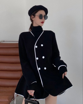 Winter overcoat double-breasted coat for women