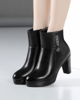 Autumn and winter boots thick crust platform for women