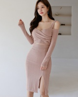 Temperament winter package hip bottoming slim dress