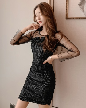Slim autumn temperament fashion night show dress