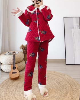 Sweet cotton coat pajamas a set for women