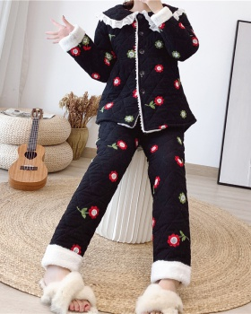 Large yard cotton coat pajamas a set for women
